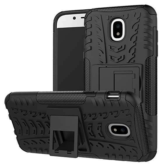 low priced 9dd18 6e19c Galaxy J3 Pro 2017 Case, Linkertech [Shockproof] Tough Rugged Dual Layer  Protector Hybrid Case Cover with Kickstand For Samsung Galaxy J3 Pro J330  ...