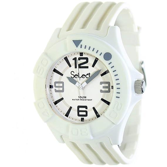 Select Tc-30-01 Reloj Analogico Unisex Caja De Resina Esfera Color Blanco: Amazon.es: Relojes