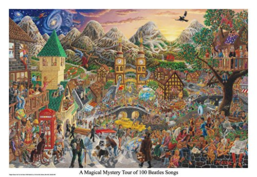 A Magical Mystery Tour (of 100 Beatles Songs) Poster 32 x 22in