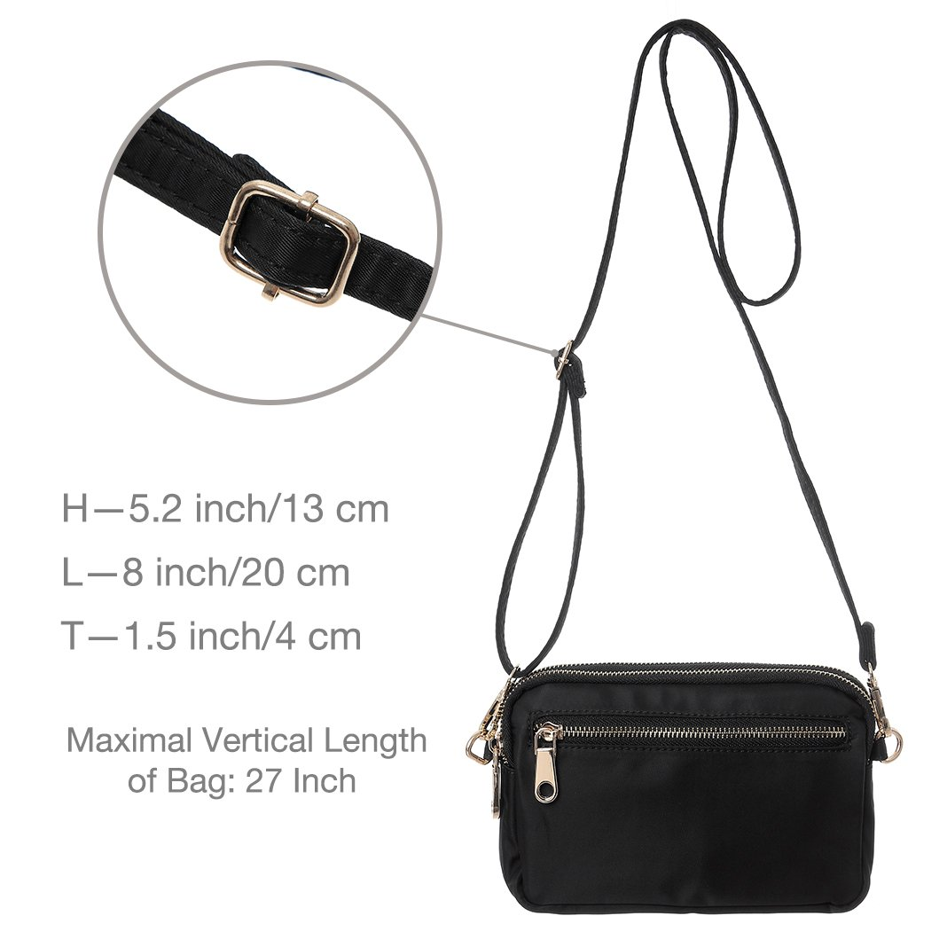 TENXITER Nylon Small Crossbody Bags Waterproof Shoulder Bag Cell Phone Wallet Purse Bag for Women