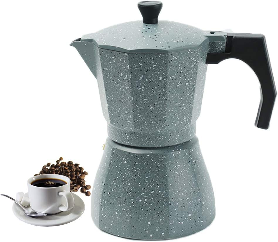 Vinekraft Moka Express Cafetera Italiana de Aluminio 6 Tazas, Gris: Amazon.es: Hogar
