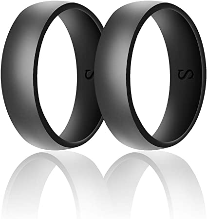 6//8mm Silicone Wedding Engagement Band Ring Women Men/'s Rubber Outdoor Sports