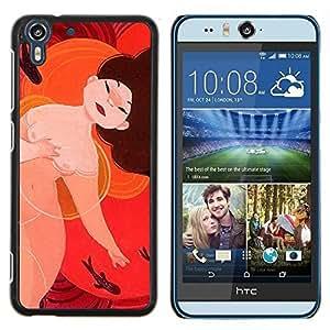 Stuss Case / Funda Carcasa protectora - Desnuda desnuda asiática Mujer japonesa Arte Chino - HTC Desire Eye M910x