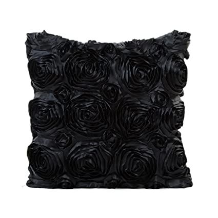 Teresamoon Pillow Sofa Waist Cushion Cover (Black)
