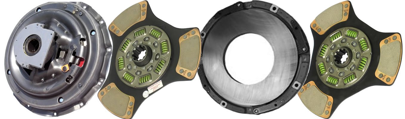 IATCO 107137-5-IAT 14'' x 1-3/4'' Stamped Steel Clutch (Two-Plate, 3-Paddle / 8-Spring, 2800 Plate Load / 950 Torque) by IATCO