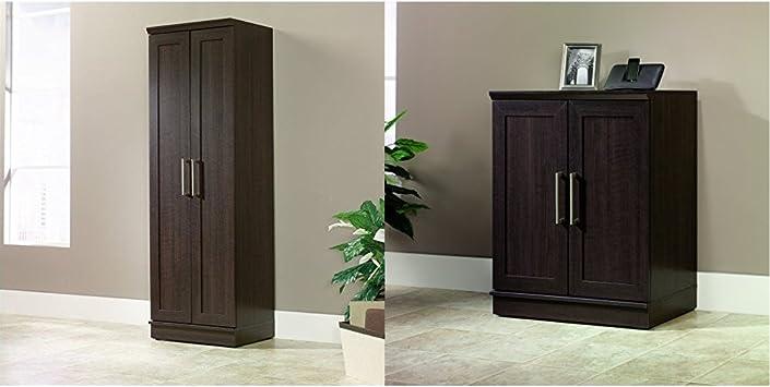 Amazon Com Sauder Homeplus Basic Storage Cabinet Dakota Oak