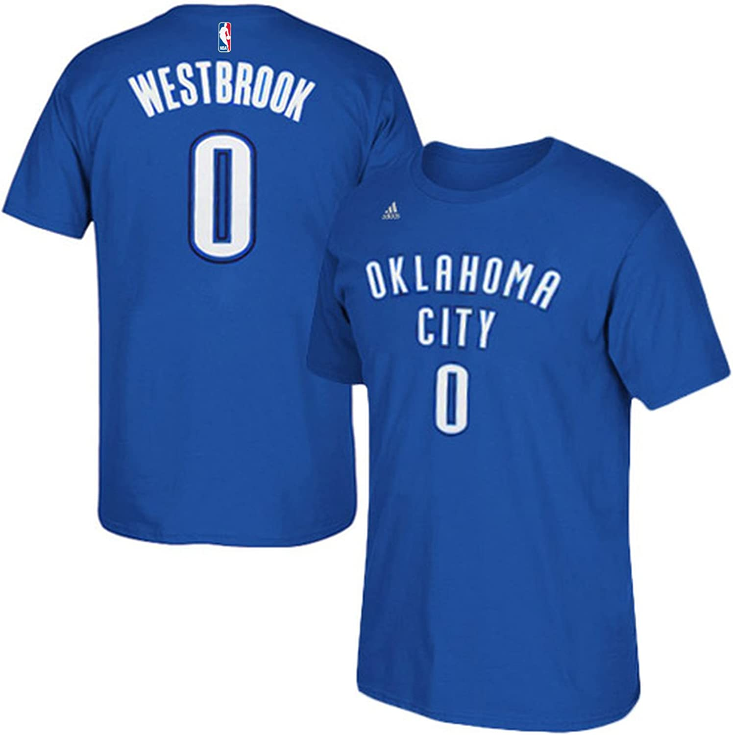 NBA Youth 8-20 Performance Game Time Team Color Player Name and Number Jersey T-Shirt (Small 8, Russell Westbrook)