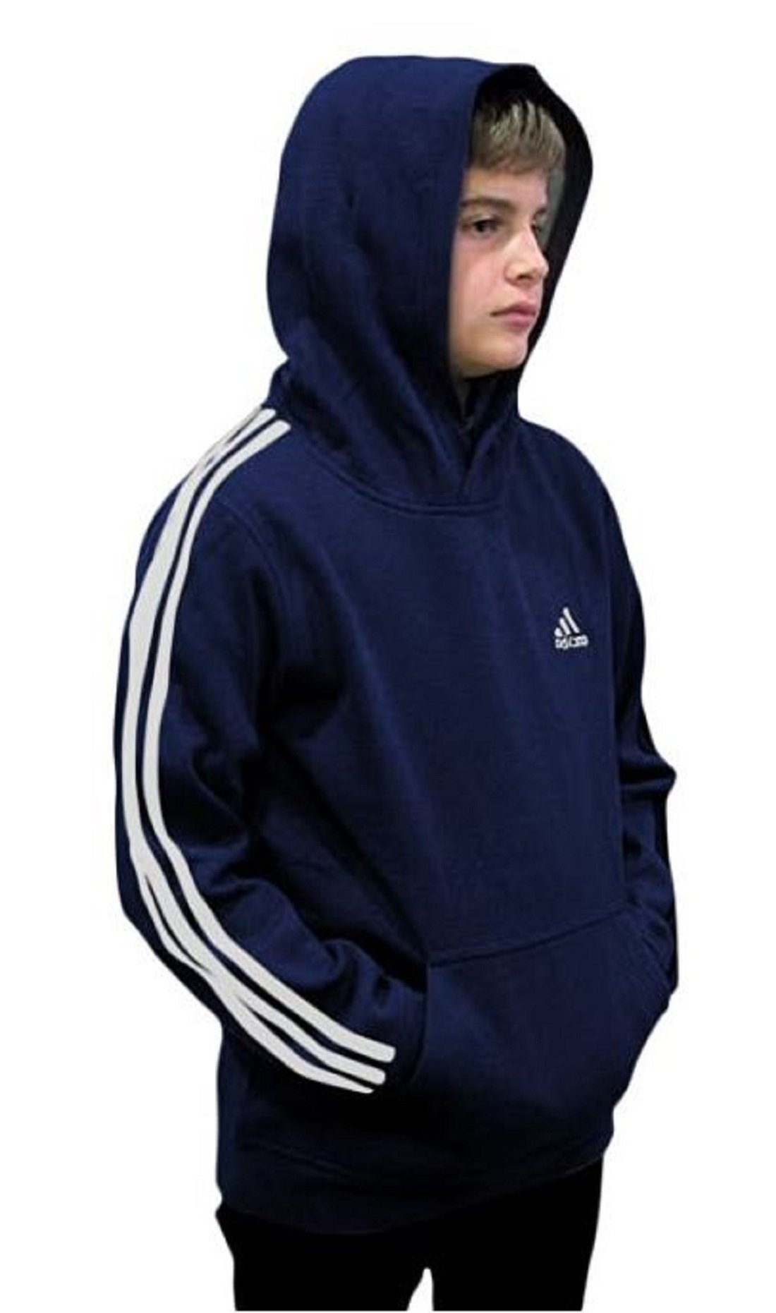 Outerstuff adidas Youth Fleece Collection (Youth Small 8, Fleece Pullover Hoodie, Navy/White) by Outerstuff