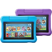 All-New Fire 7 Kids Edition Tablet 2-Pack, 16 GB, Purple/Blue Kid-Proof Case