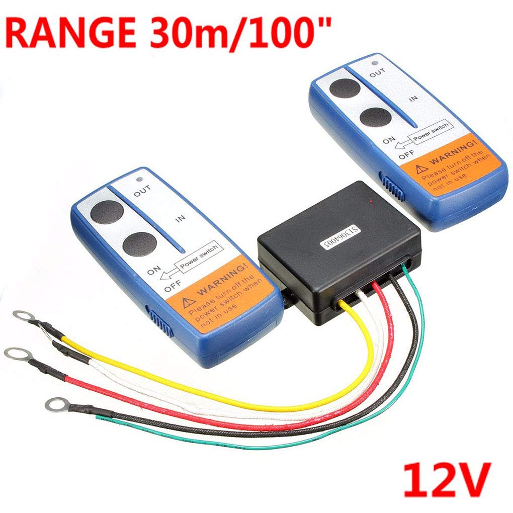Recovery Wireless Winch 2 Remote Control Kit Handset Switch Compatible for ATV SUV Truck 12V 100ft