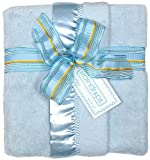 Raindrops Flurr Receiving Blanket, Blue