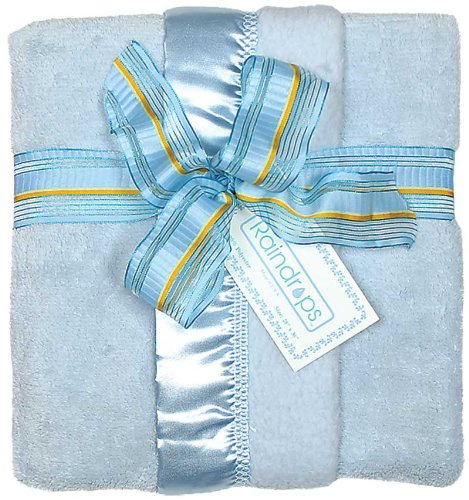Raindrops Flurr Receiving Blanket, Blue by Raindrops
