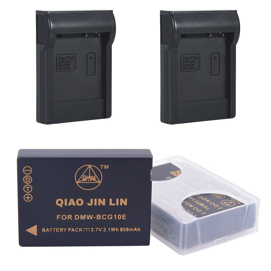 QiaoJL 2x Replacement battery pack for Panasonic DMW-BCG10 DMW-BCG10E