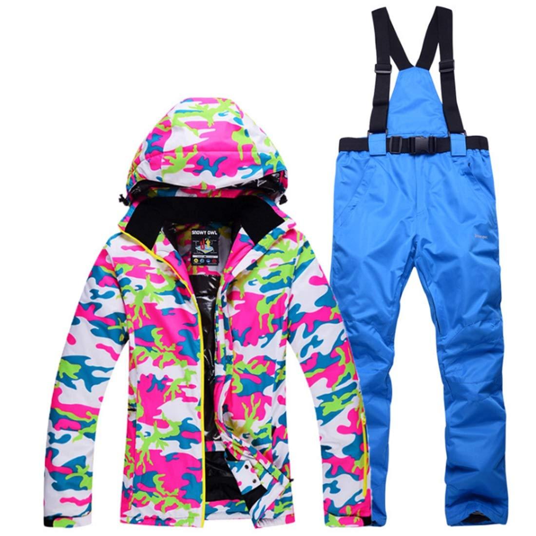 DAMEIFEITUN 女性用マウンテン スキー ジャケット防水防風暖かい冬レイン コート(s-xl) (色 : 04, サイズ : L)  Large