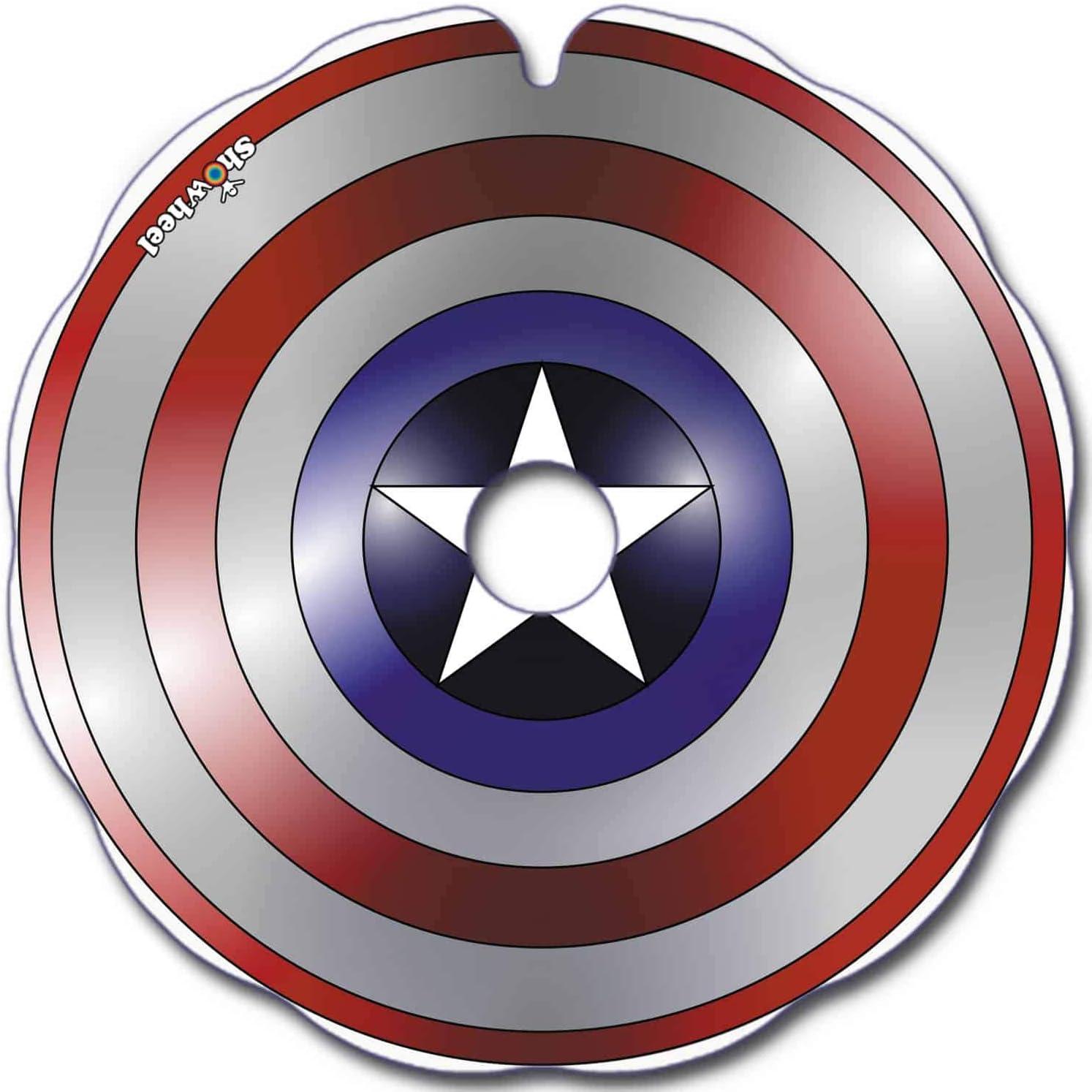 Petaca: protector para silla de ruedas (par) para pasamanos de 44,00 a 45,00 cm de diámetro. Exterior, fijación redonda – Capitán americano.