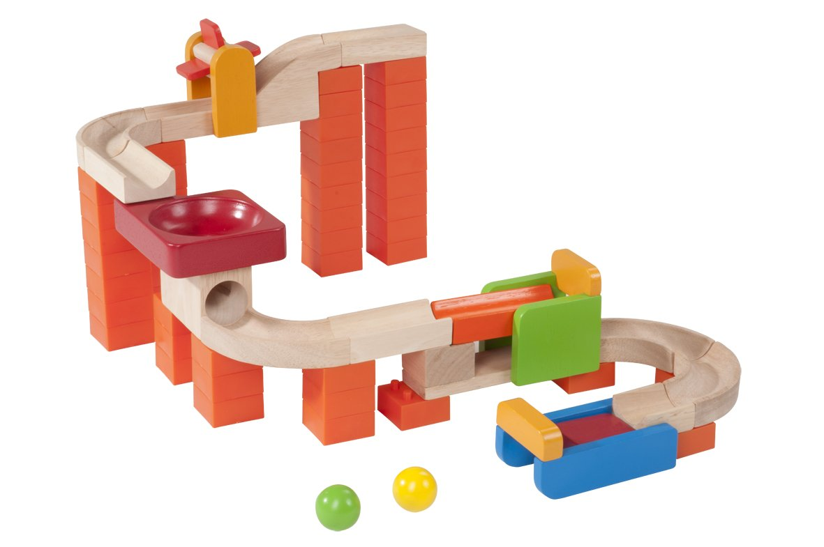 Wonderworld Creative Gravity Play! Trix Tracks Spin & Swirl - 58 Piece Set Unique Kids Toy with Endless Building Options