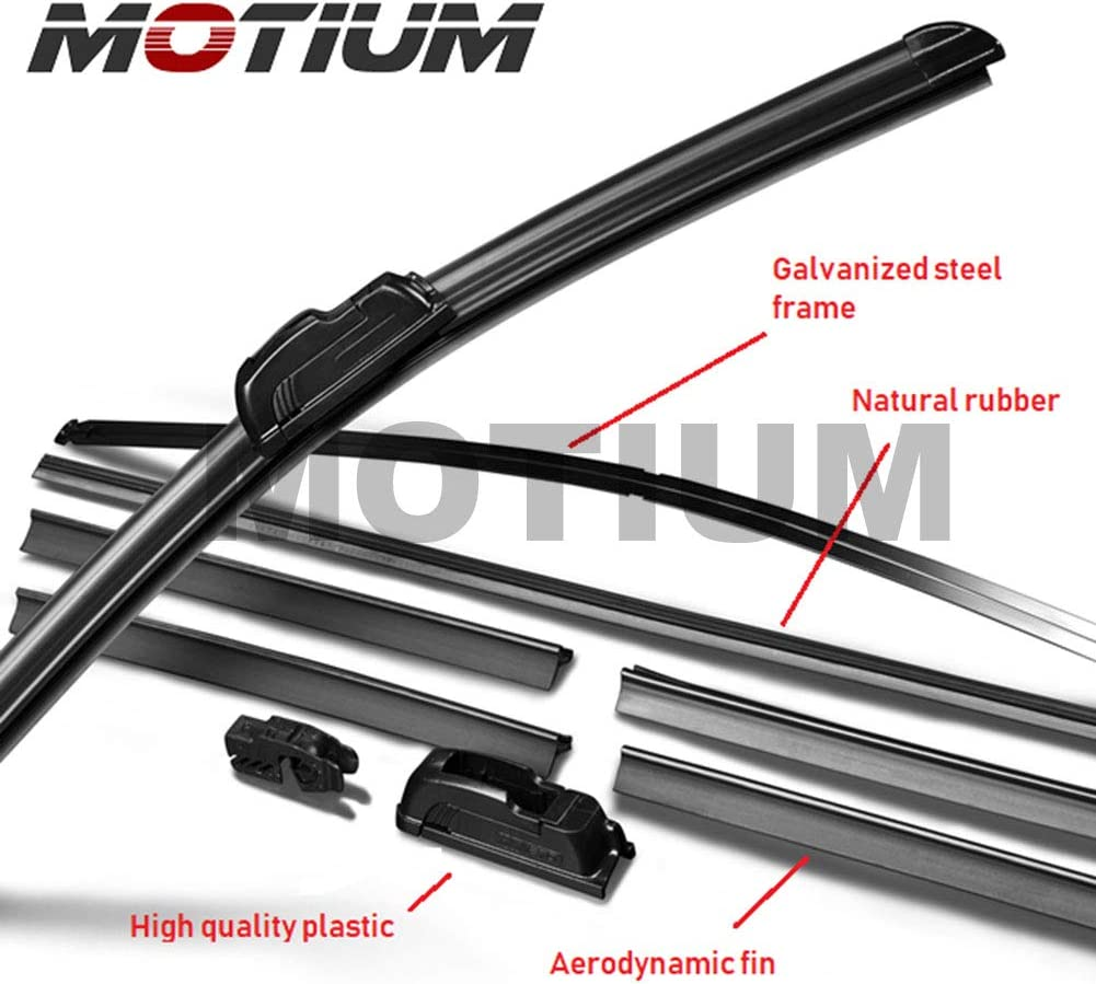 Set of 2 MOTIUM OEM QUALITY 18 18 Premium All-Season Windshield Wiper Blades,1 Year Warranty /…
