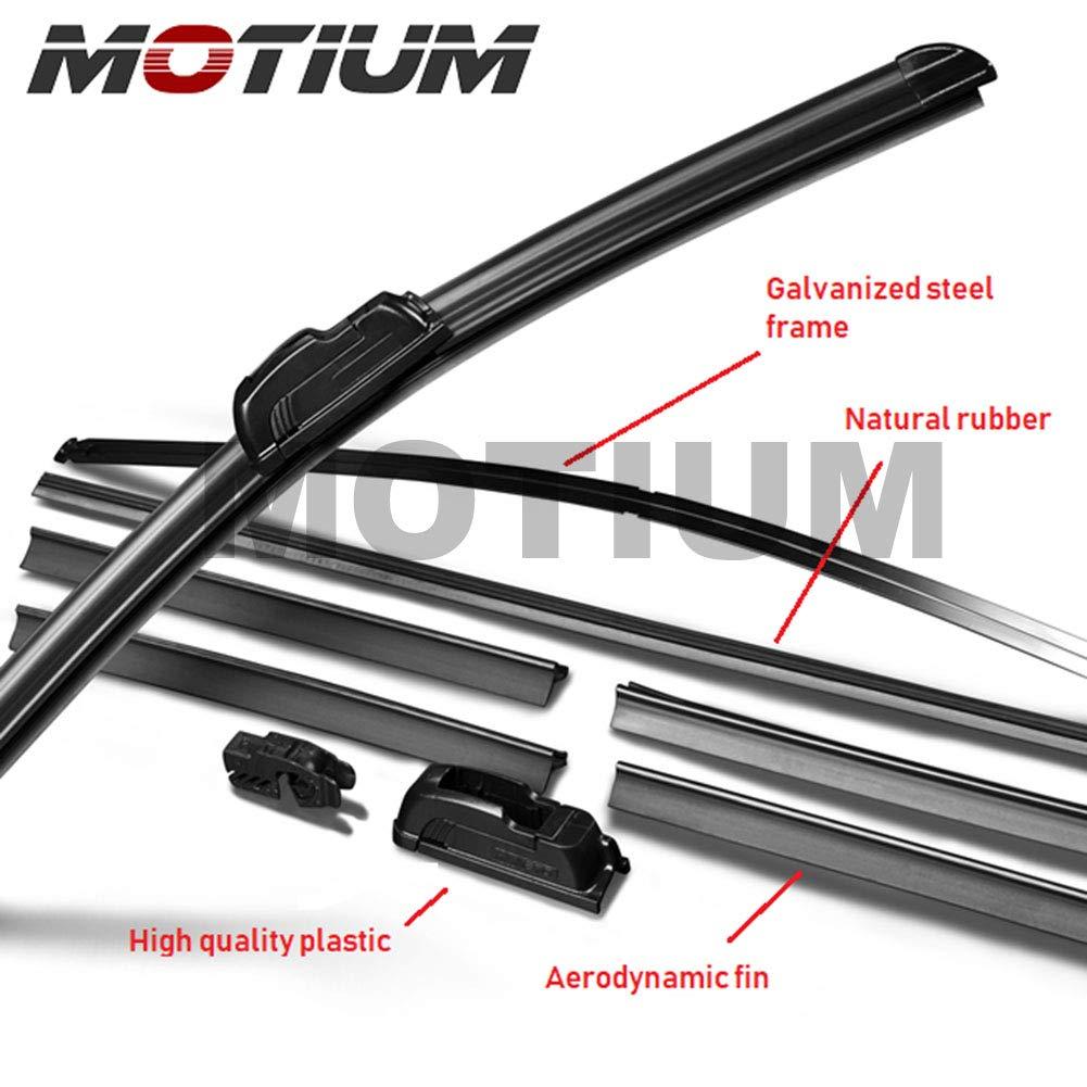 Set of 2 /… 19 Premium All-Season Windshield Wiper Blades,1 Year Warranty MOTIUM OEM QUALITY 19