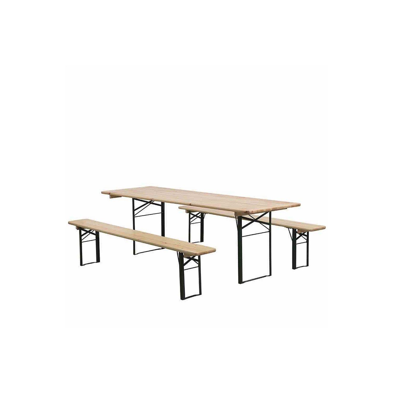 Fun Star 172468 Festzeltgarnitur, 220 x 70 cm 3-teilig, 1 Tisch, 2 Bänke