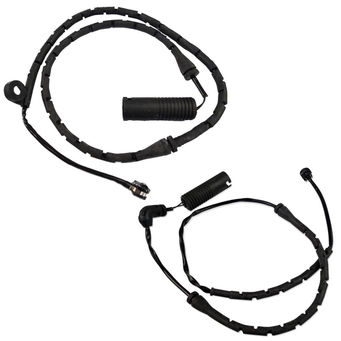 Bapmic 34351165579 Front + 34351165580 Rear Brake Pad Wear Sensors for BMW E53 X 5 2000-2006