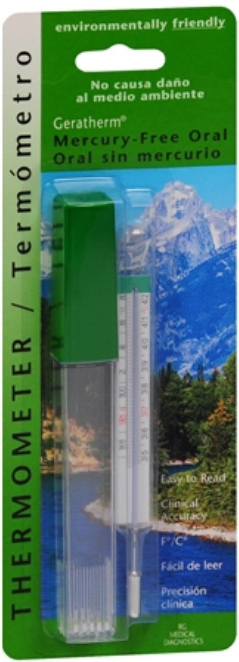 Geratherm Thermometer Oral Mercury Free 1 Each (Pack of 11)