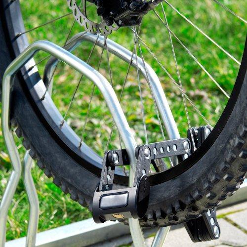Semptec Urban Survival Technology Faltbares Fahrradschloss: Fahrrad- & Motorrad-Faltschloss mit Rahmenhalterung, 95 cm, 5 mm Stahl (Fahrradsicherung)