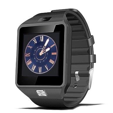 Bluetooth reloj inteligente Android, zamack Bluetooth reloj teléfono móvil inteligente con ranura para tarjeta SIM