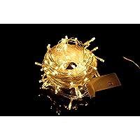 PISCA PISCA DE LED 100 LÂMPADAS - 8 FUNÇÕES - LUZ PISCANTE - 9 METROS DE COMPRIMENTO LUZES AMARELADAS 110V (COD.1004)