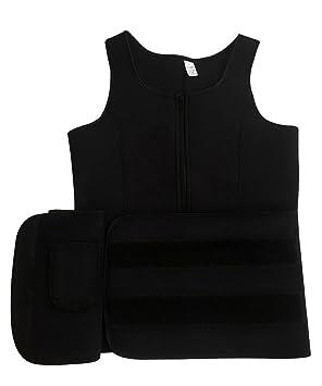 6da07d7e7033ee Amazon.com  FUT Women s Neoprene Sauna Suit Tank Top Vest with Adjustable Shaper  Waist Training Belt  Sports   Outdoors