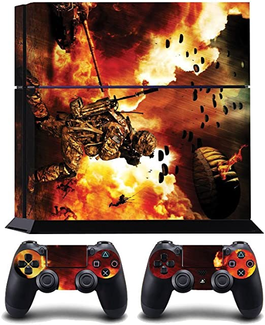 Soldier In The Flames Print PS4 PlayStation 4 Vinyl Wrap / Skin / Cover / Pegatina para Sony PlayStation 4 Console y PS4 Controllers: Amazon.es: Hogar