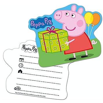 Peppa Pig Invitación Fiesta 6 Piezas Niños Fiesta De