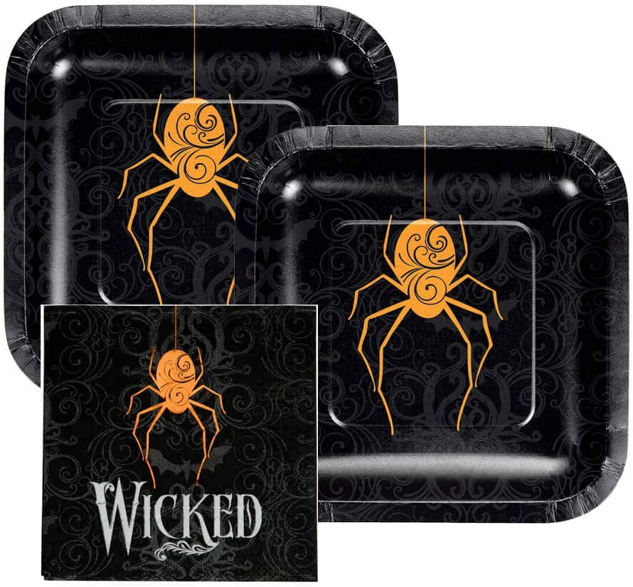 Halloween Spider Plates and Napkin Sets
