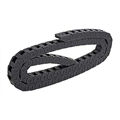 1M R18 Drag Chain 10x10mm Leaf Flexible Nested Semi Closed Cable Wire Carrier Internal Content Protected for Electrical Machines Engineering CNC Industrial Parts Black Plastic: Industrial & Scientific