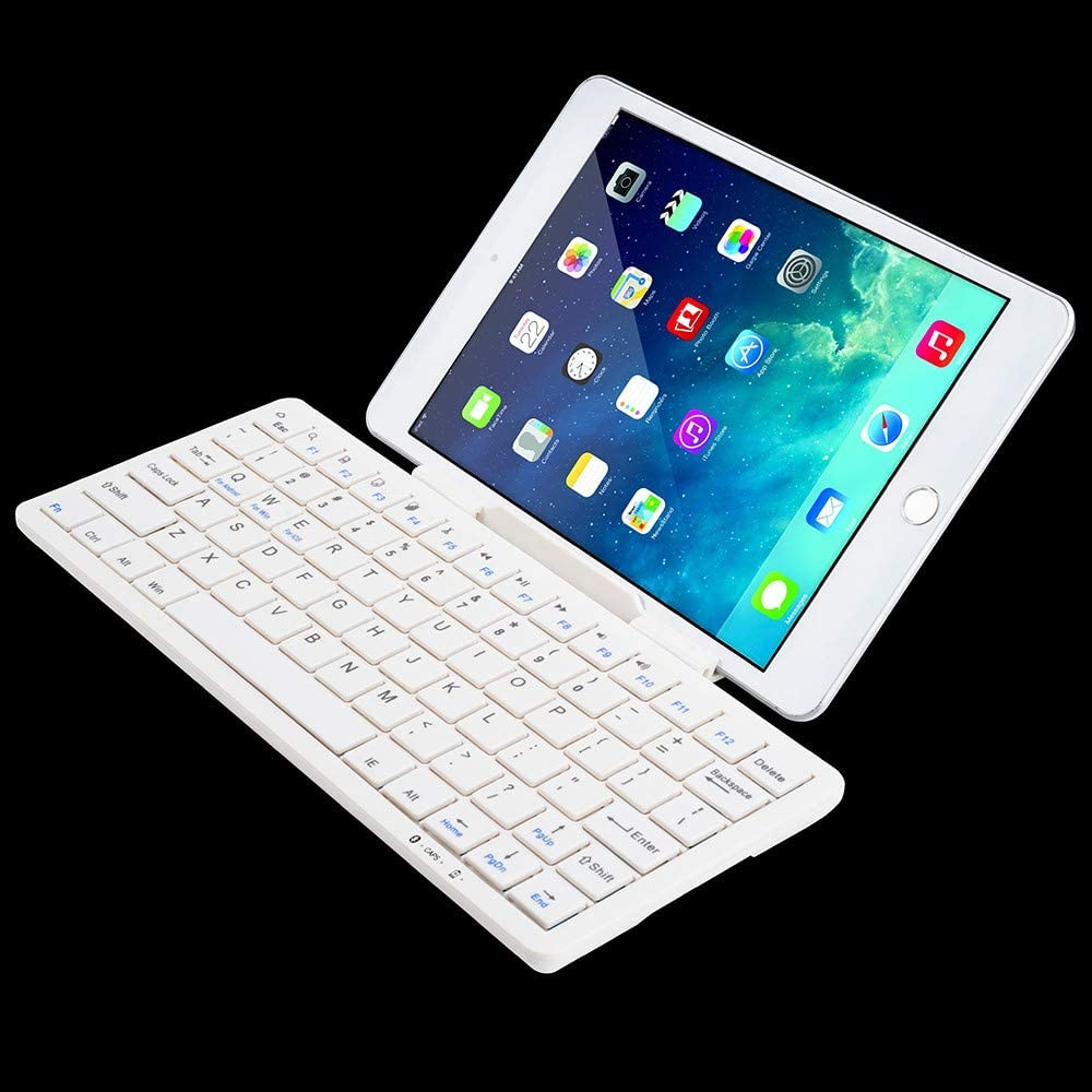White Bluetooth Wireless Keyboard Magnetion Ultra Slim Bluetooth Wireless Keyboard for Phone Android Windows Good for Student and Game Player/&Worker,Ergonomic Tilted Design