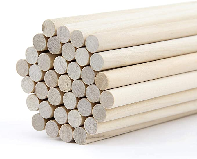 5//16 x 18 Inch Unfinished Hardwood Sticks for Crafts and DIY/'ers Dowel Rods Wood Sticks Wooden Dowel Rods 100 Pieces by Woodpeckers