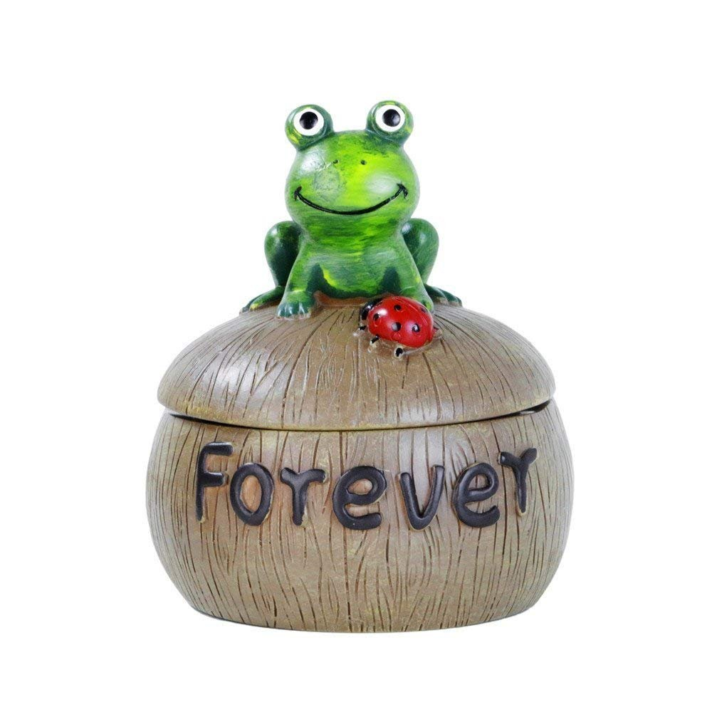 Monsiter Cigarette Ashtray Outdoor Creative Frog Ashtray with Lid for Home