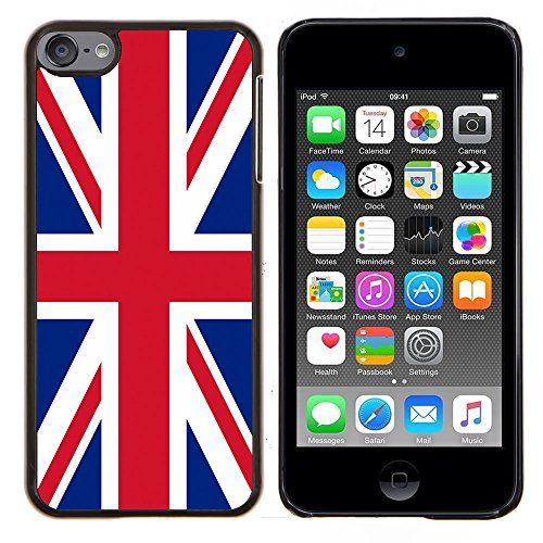 (STPlus United Kingdom UK British Flag Hard Cover Case for Apple iPod Touch 6)