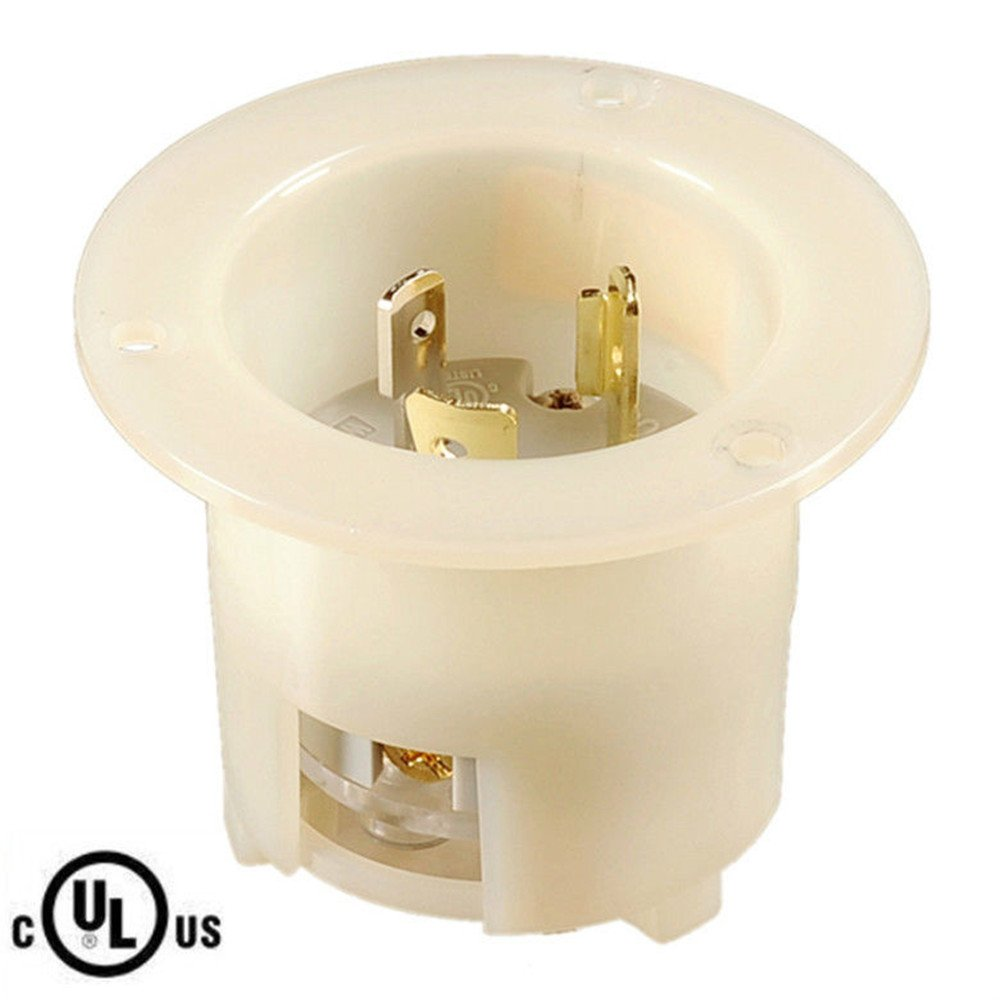 NIB, UL Listed Twist Lock ,Locking NEMA L5-20 FI, FLANGED INLET,2P,3W,20A 125V (ETA:7-12 WORK DAYS)