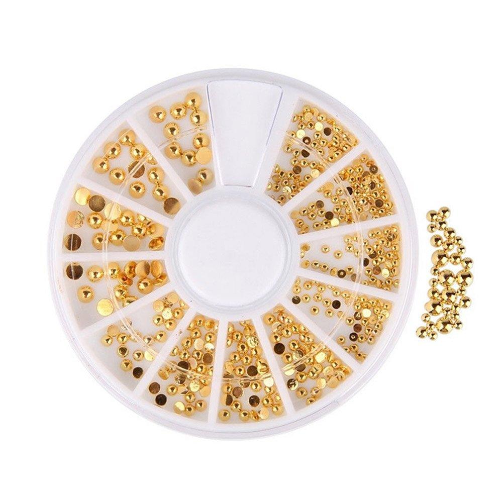 Gracefulvara Gold Half-circle 3D Rhinestone DIY Nail Art Stickers Decorations M02822