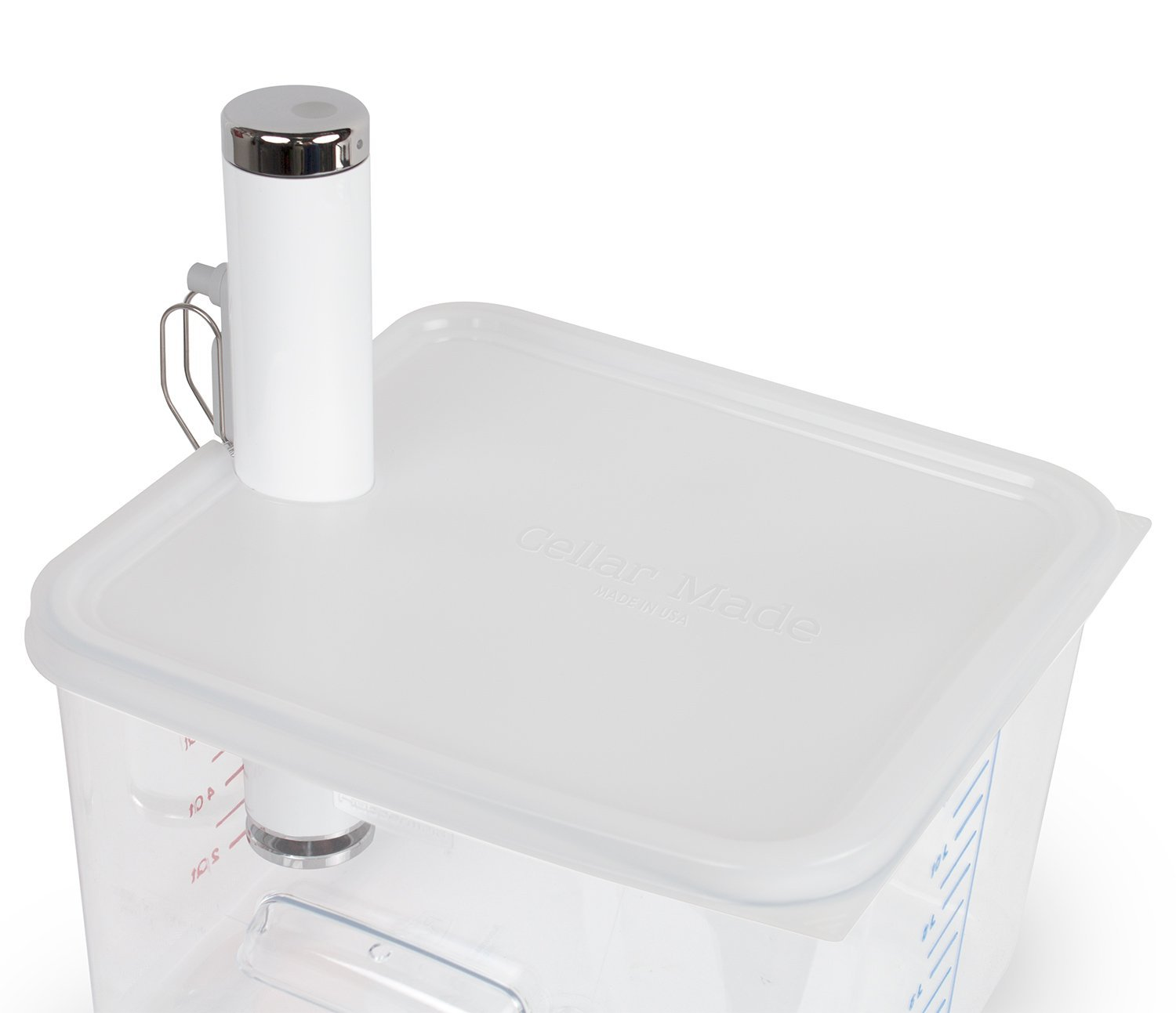 Cellar Made Sous Vide Lid for ChefSteps Joule fits 12, 18 & 22 Quart Rubbermaid Containers Made in USA
