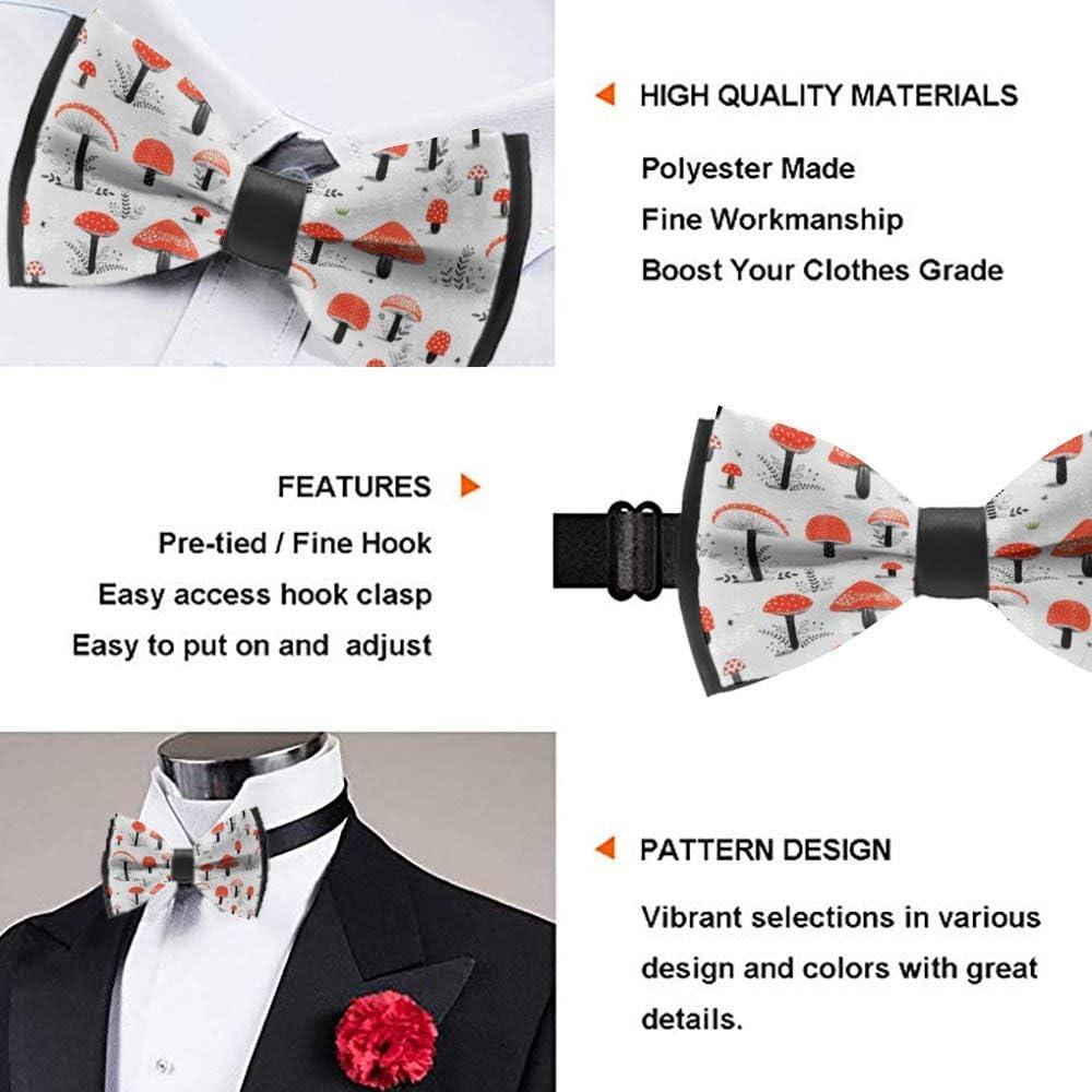 Handmade Formal Pre-Tied Tuxedo Bow Tie for Men-Cartoon Mushrooms