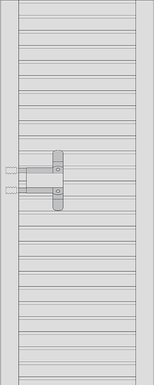 Basi/® Rolladen morsetto 4/Coppia protezione anti intrusione morsetto fusibile per tapparelle finestre Backup
