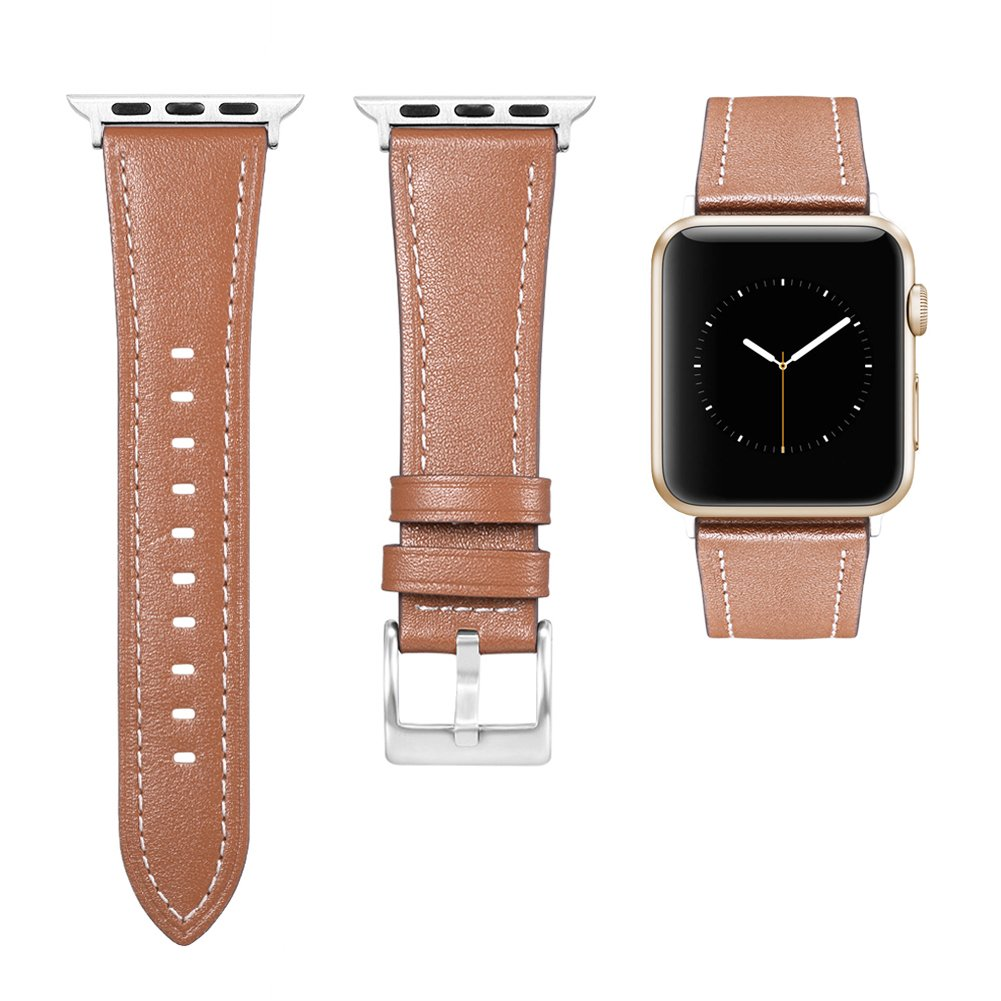 Kuzbie Apple Watch Bands 38mm/42mm Women/Men, iWatch Apple Watch Leather Bands Series 3,Series 2,Series 1,Sport,Nike+,Edition