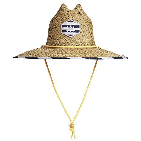 859d1bb8e Amazon.com : Hemlock Hat Shore Club Straw Hat with Adjustable ...
