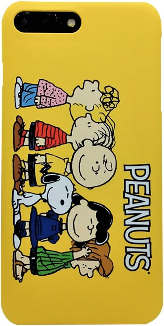 [iPhone 7 Plus/iPhone 8 Plus Case] Kubrick Peanuts Snoopy Charlie Brown Cell Phone Bumper Case Polycarbonate Hard Cover Case UV Coating (Charlie & Friends)
