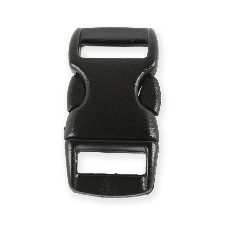 Grenhaven Lot de 10 fermoirs /à clip en plastique 3//8 noir pour bracelets en paracorde//collier pour chien ou chat