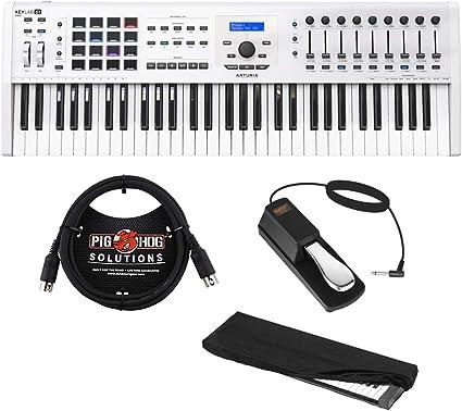 Blanco Arturia KeyLab 61 Essential Teclado Controlador MIDI Negro