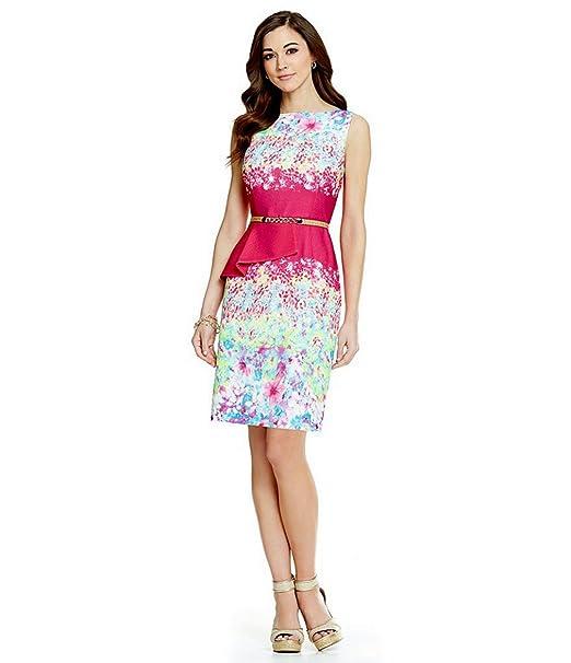 8a5668b790 Antonio Melani Playing Favorites Tiago Belted Peplum Crepe Dress (12 ...