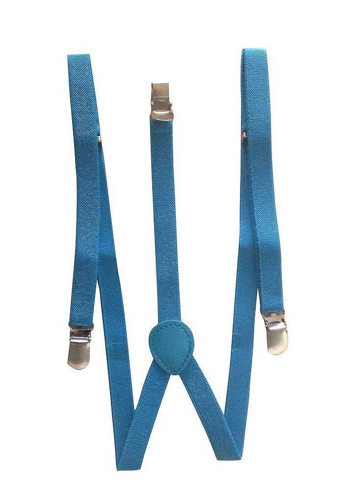 Bigood Baby Toddler Kid Adjustable Elastic Suspenders Y Back Clip Design Blue