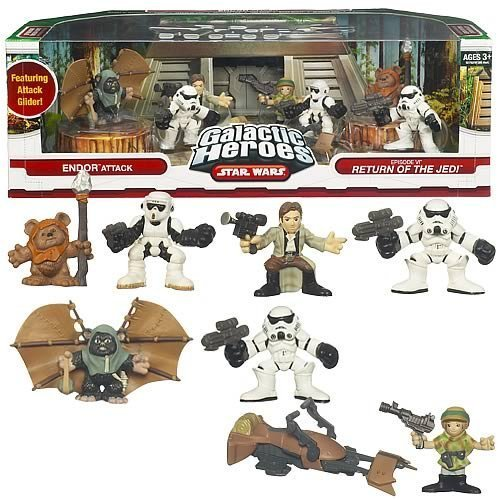 (Star Wars Galactic Heroes Cinema Scene Endor Attack)